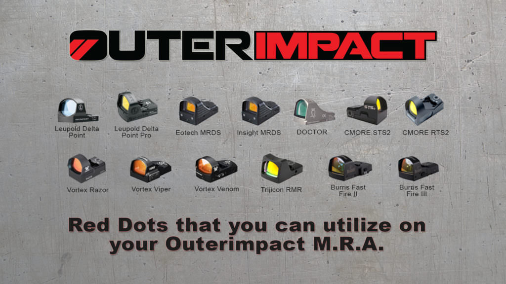 Picture of Compatible Red Dots for the M.R.A. adapter by Outerimpact