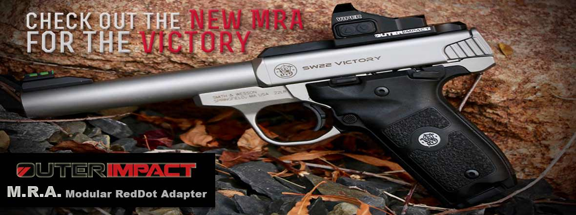 Slider image showcasing the NEW Smith & Wesson Victory Red Dot MRA